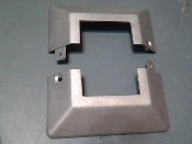 Aluminum Cover Plate 2 inch square