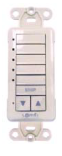 5 Channel Hz Wall Switch for Roll Shutters